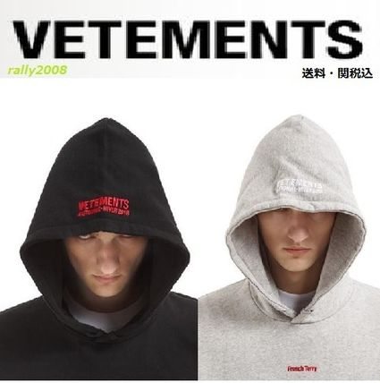 """VETEMENTS"" FRENCH TERRY OVERSIZED HOODED SWEATSHIRT☆"