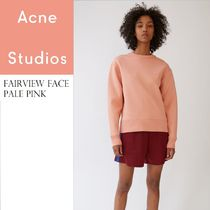 Acne Fairview face pale pink リラックススウェット ピンク
