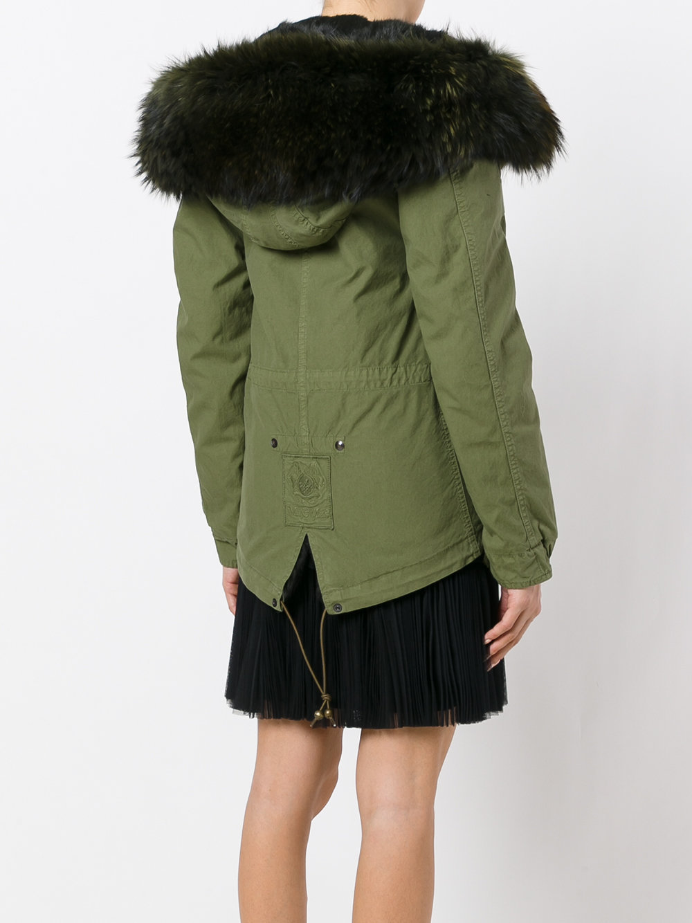 MRMRS033 CANVAS PARKA MINI WITH LAPIN FUR LINING