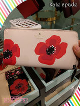 kate spade★HYDE LANE POPPY MICHELE★ポピー柄長財布