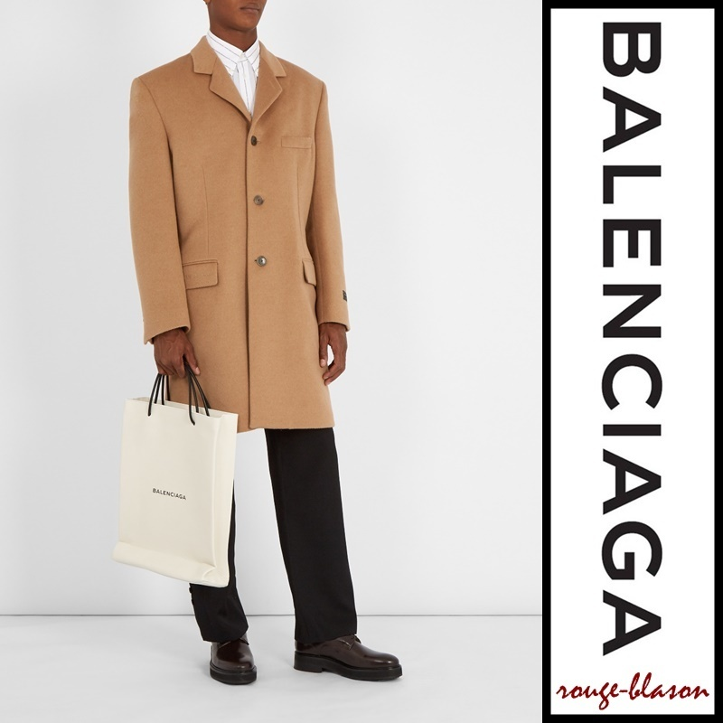 【国内発送】Balenciaga Notch-lapel single-breasted coat