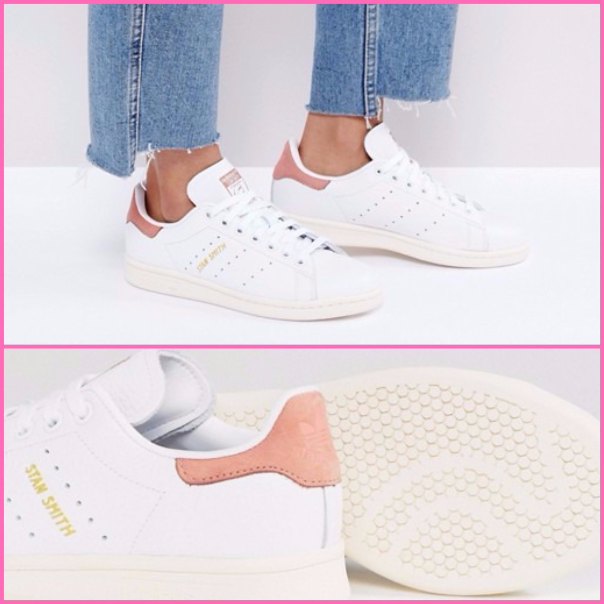 【adidas Originals】Stan Smith人気★White and Coral