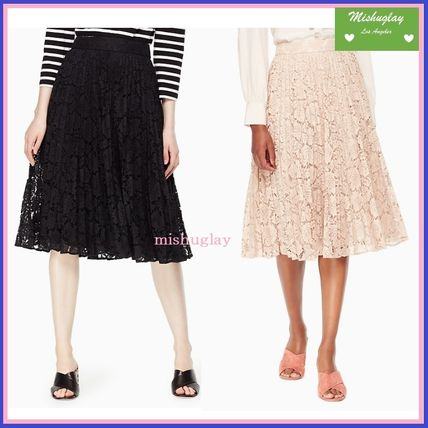 【kate spade】華やかレース♪poppy lace pleated skirt★2色