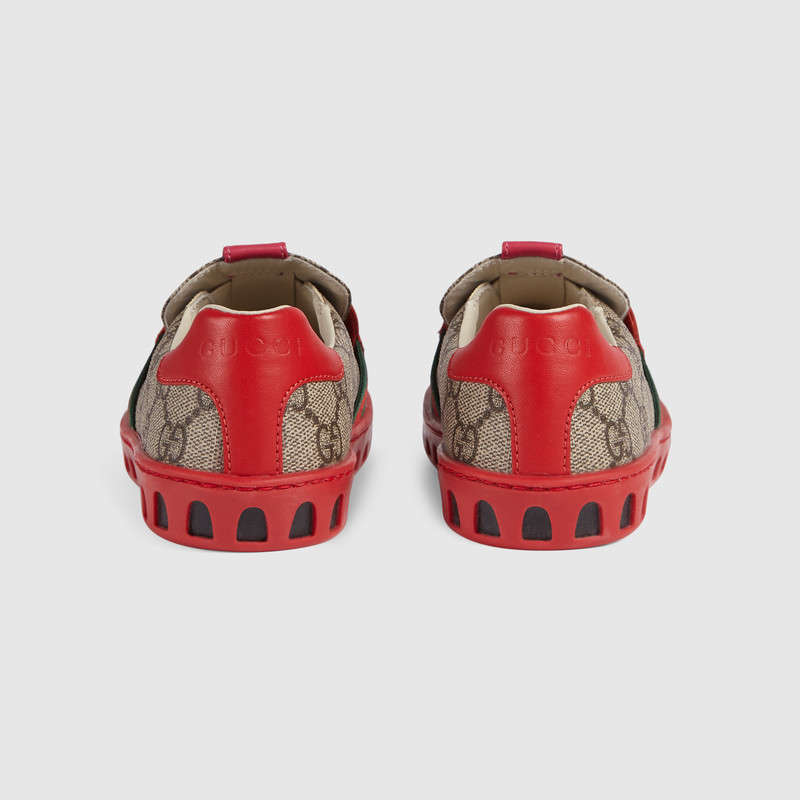 【GUCCI(グッチ)】子供 スニーカー GG Supreme sneaker with owl
