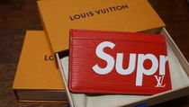 【正規品】Supreme × LOUIS VUITTON カードケース RED