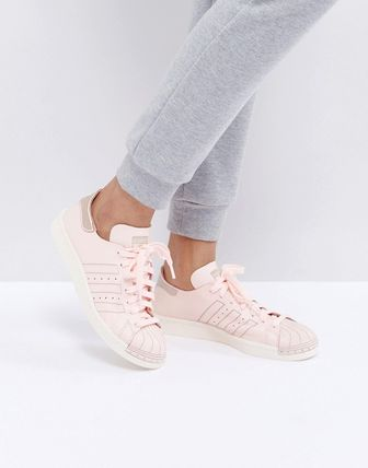 adidas Originals Pink Leather Deconstructed Superstar 80S