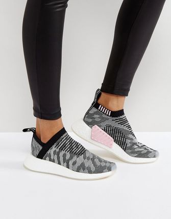 adidas NMD Cs2 Trainer In Black Shashiko Knit