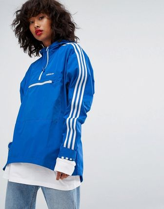 adidas Originals Tennoji Half Zip In Blue