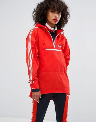 adidas Originals Tennoji Half Zip Jacket In Red