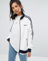 adidas Originals Track Jacket In White And Navy