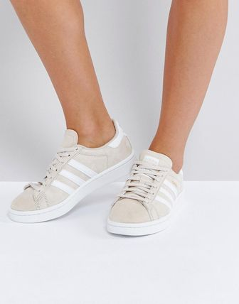 adidas Originals Campus Trainer In Cream