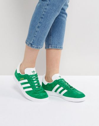 adidas Originals Gazelle Green Suede Trainers