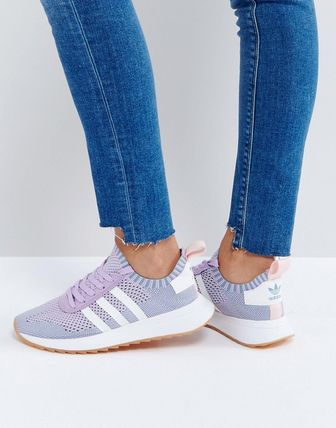 adidas Originals FLB Primeknit Trainer In Lilac