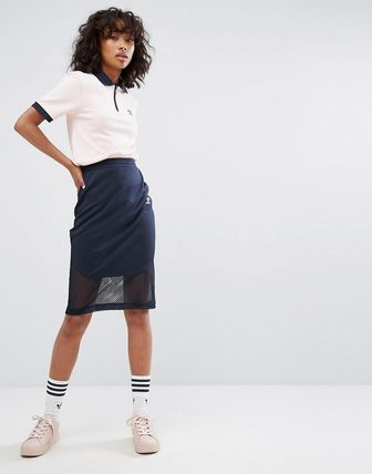 adidas originals Osaka Midi Skirt In Navy