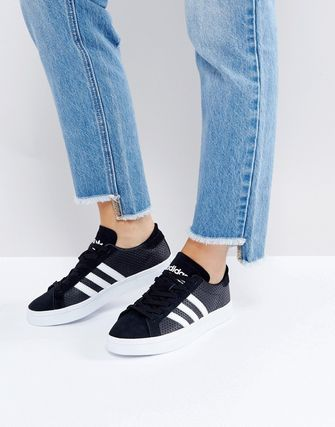 adidas Originals Black And White Court Vantage Trainers