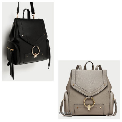 ●ZARA●秋新作♪BACKPACK WITH FRONT RING