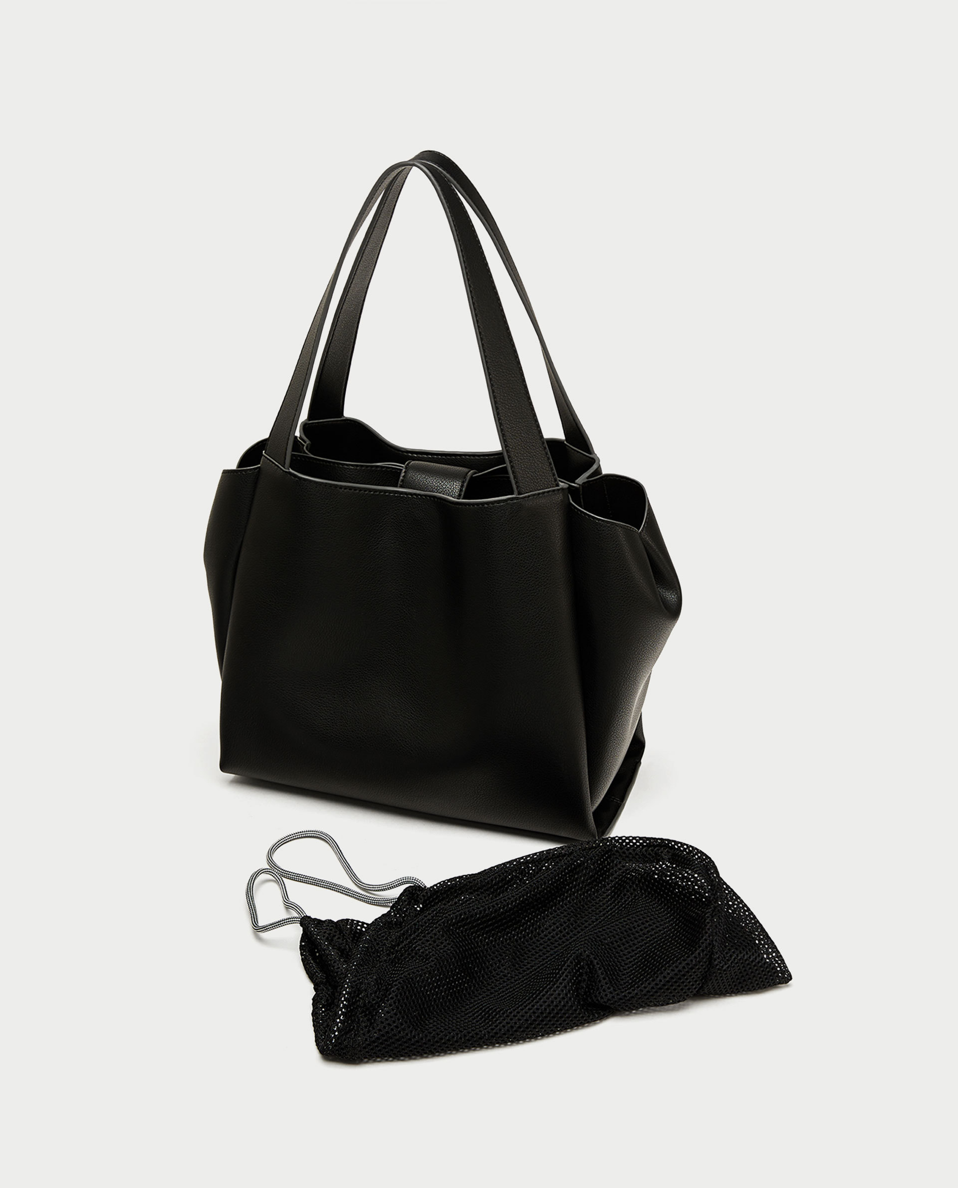 ●ZARA●秋新作♪TOTE WITH INTERIOR BAG