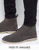新作♪♪ASOS Desert Boots In Grey Suede With スエード ブーツ