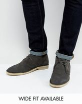 新作♪♪ASOS Desert Boots in Suede - Wide Fitスエード ブーツ