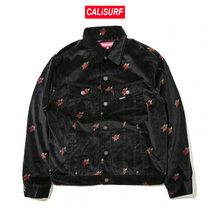 AW17 Supreme(シュプリーム)VELVET TRUCKER JACKET/BLACK/S