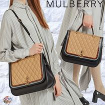 Mulberry☆Amberley Silky Calf & Croc Print 2way エレガント
