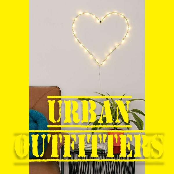 【Urban Outfitters】 HEART ライトスカルプチャー