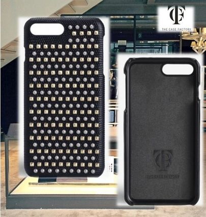 THE CASE FACTORY★IPHONE 7Plus MIXED STUDS LIZARD BLACK