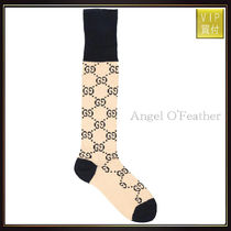 【グッチ】Jacquard Logo Cotton Blend Socks アンダーシャツ