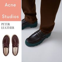 Acne Peter leather boat shoes ラバーソールレザーシューズ2色