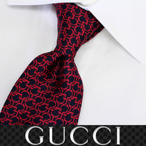 29 GUCCI グッチ 新品本物 総柄 SILK100% ネクタイ