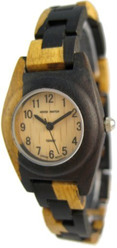 腕時計 Tense Natural Dark Light Wooden Watch Multicolored La