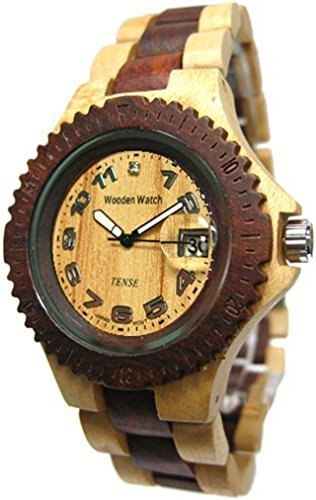 Tense テンス Natural Two Tone Sports Wood Watch G4100MS ANLF