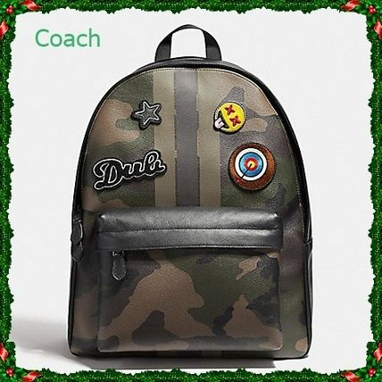 Coach(コーチ) CHARLES CAMO PATCHES バックパック