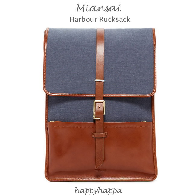 【MIANSAI】限定SALE★入手困難Leather Trim Harbour Rucksack