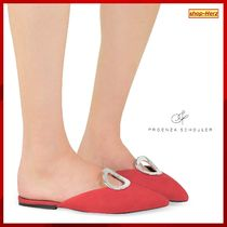 ★Proenza Schouler★ Flame Red Suede Flat ミュール 関税込