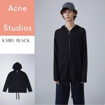 ACNE Kabel hoodie parker ウール混ジッパー付フーディパーカー