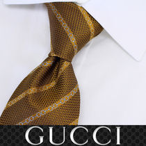 33 GUCCI グッチ 新品本物 総柄 SILK100% ネクタイ