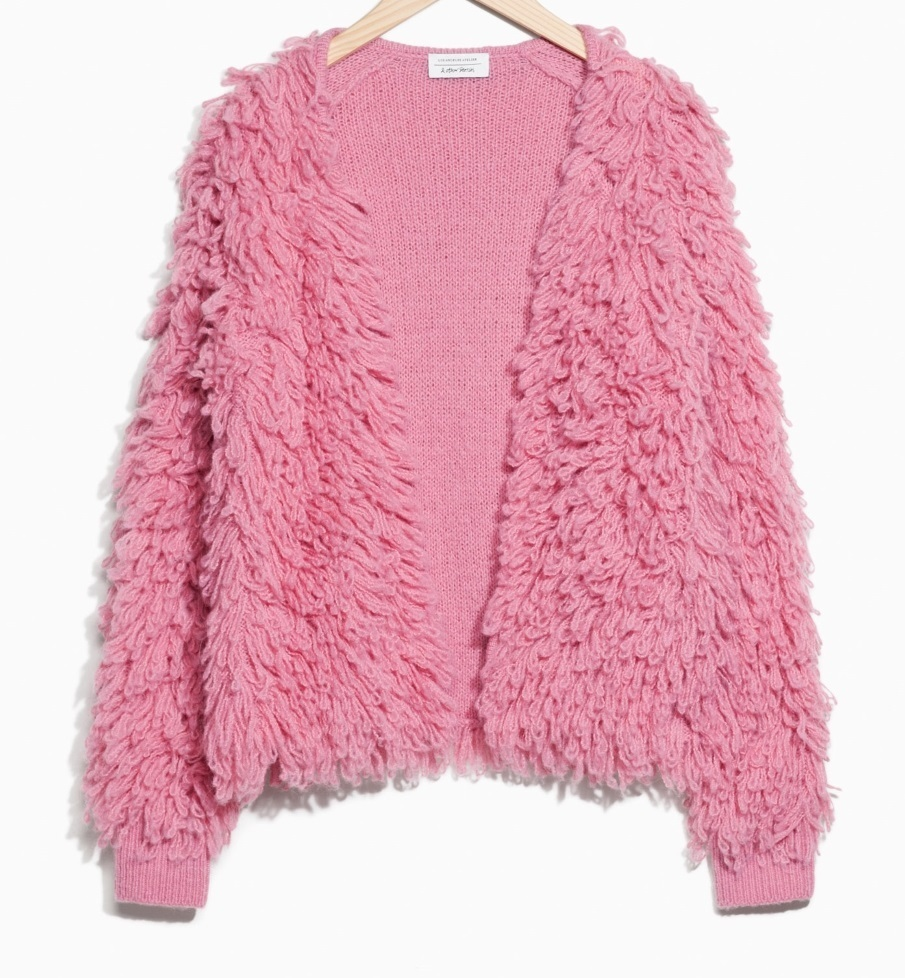"""""""& Other Stories""""Shaggy Wool-Blend Knit Pink"""