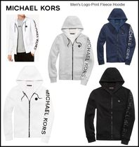 【Michael Kors】 Men's Logo-Print Fleece Hoodie