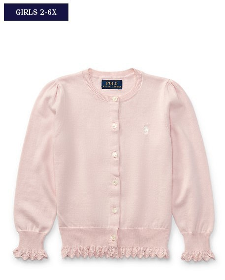 新作♪ 国内発送 POINTELLE COTTON CARDIGAN girls 2~6X