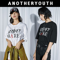 ANOTHERYOUTH(アナザーユース) Tシャツ・カットソー 日本未入荷 ANOTHERYOUTH★lettering t (2色) 男女共用