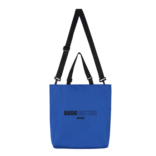 ★BASIC COTTON★正規品/日本未入荷/unisex eco bag(bl)