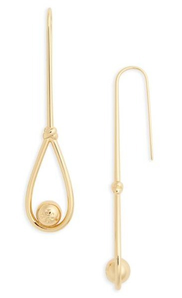 ロゴ入り☆Tory Burch☆Logo Linear Drop Earrings
