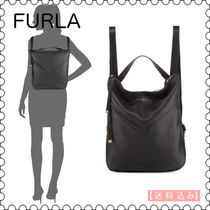 【FURLA】2WAY Holly Leather Backpack★(正規)