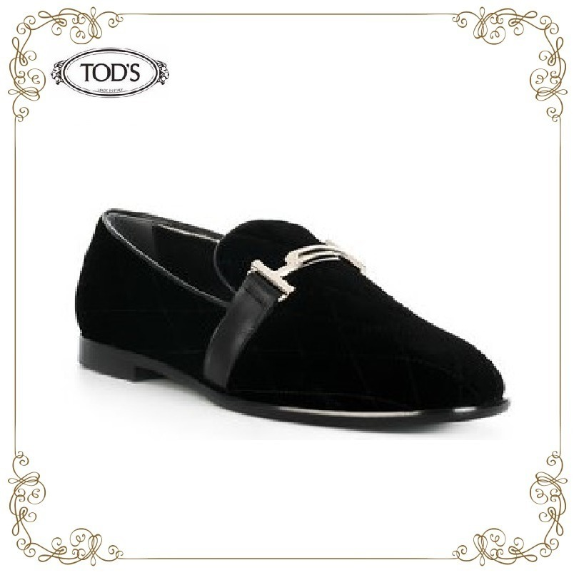 【17AW】★TOD'S★メタリック装飾 ローファー
