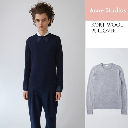 [Acne]Kort slim fit wool crewneck pullover ウールセーター2色