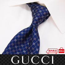 37 GUCCI グッチ 新品本物 総柄 SILK100% ネクタイ