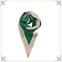 SALE【GUCCI】シルク Blind for Love プリント スカーフ Green