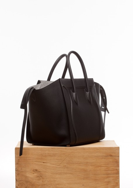 【CELINE】Black and grey medium luggage phantom cabas
