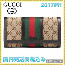 セレブ愛用者多数☆GUCCI☆Vintage Web GG canvas wallet